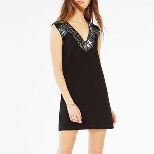 BCBG Dominica Geometric Mirror Embellished Dress